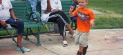 Three-Year-Old Boy Dancing in the Park (4)